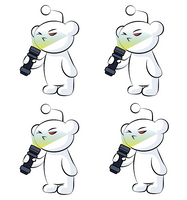 r/flashlight Pack of 4 Stickers