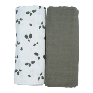2-Pack Organic Swaddle - Oak Leaf