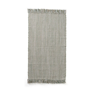 Rug Cotton Jute Green