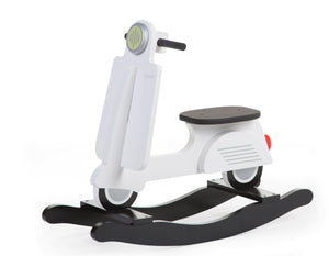 Vintage Rocking Scooter (White)