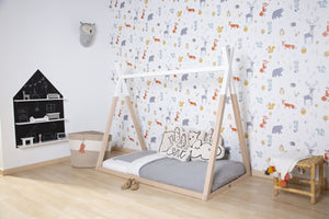 Tipi Bed - 70x140 Cm - Wood - Natural White