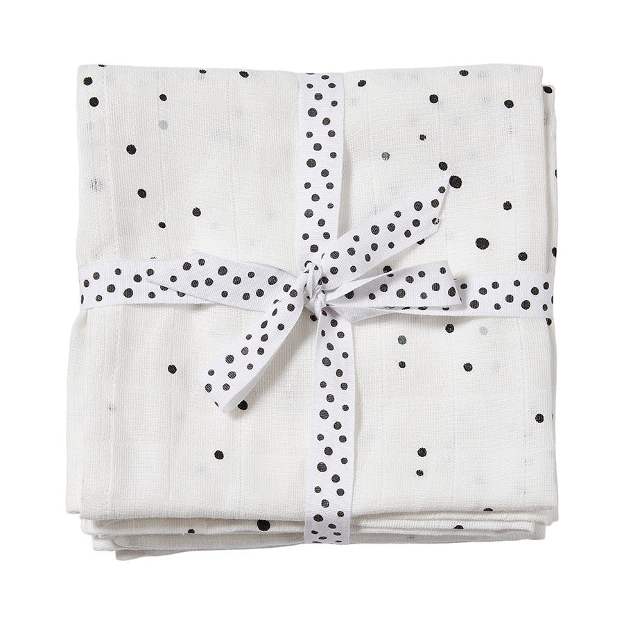 Burp Cloths 2-Pack Dreamy Dots White