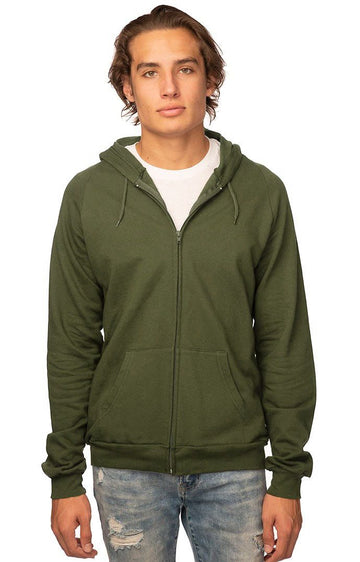 Unisex Organic Cotton Full Zip Hooded Sweatshirt
