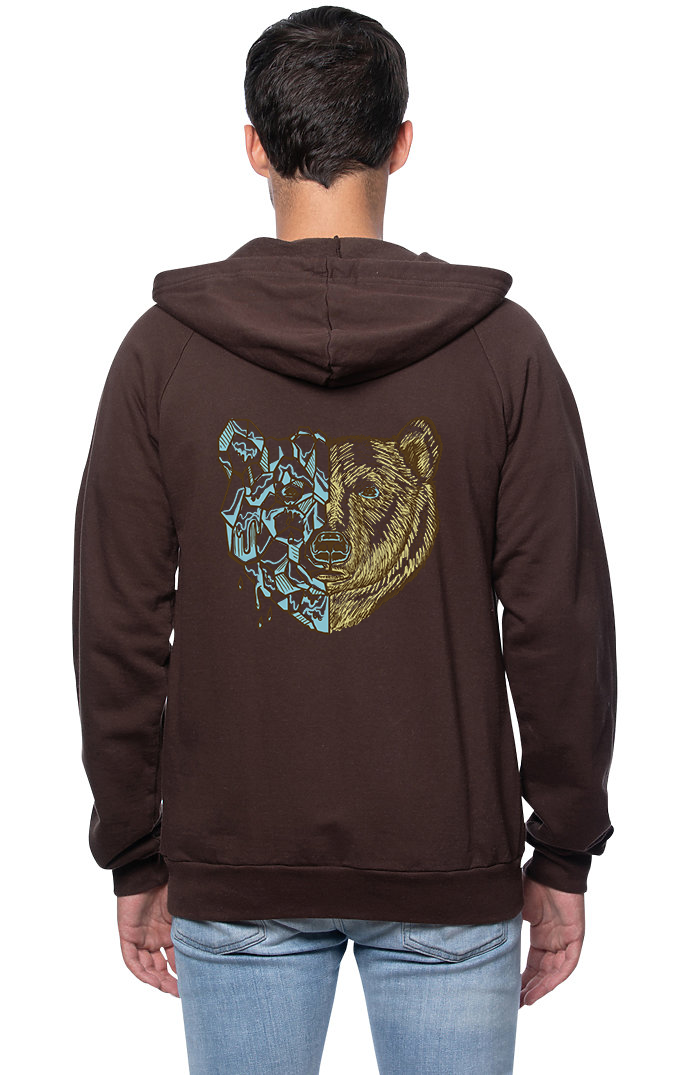Sleeves for Trees Collection on Organic Cotton Hoodie Polar Bear