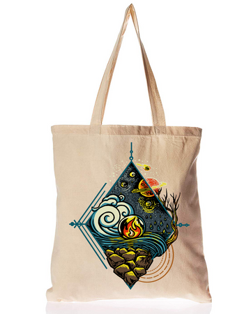 Organic Cotton Tote Bag 5 Elements