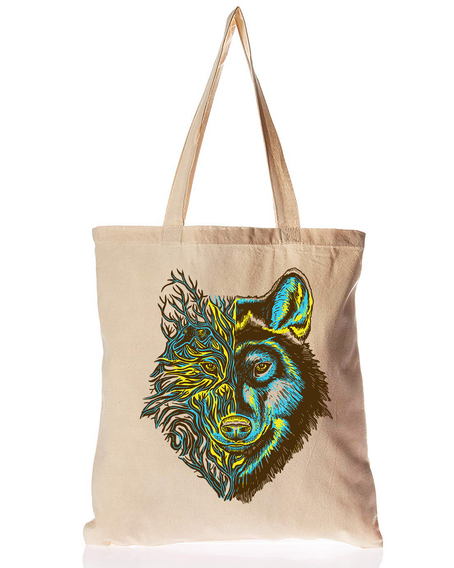 Organic Cotton Tote Bag Dire Wolf