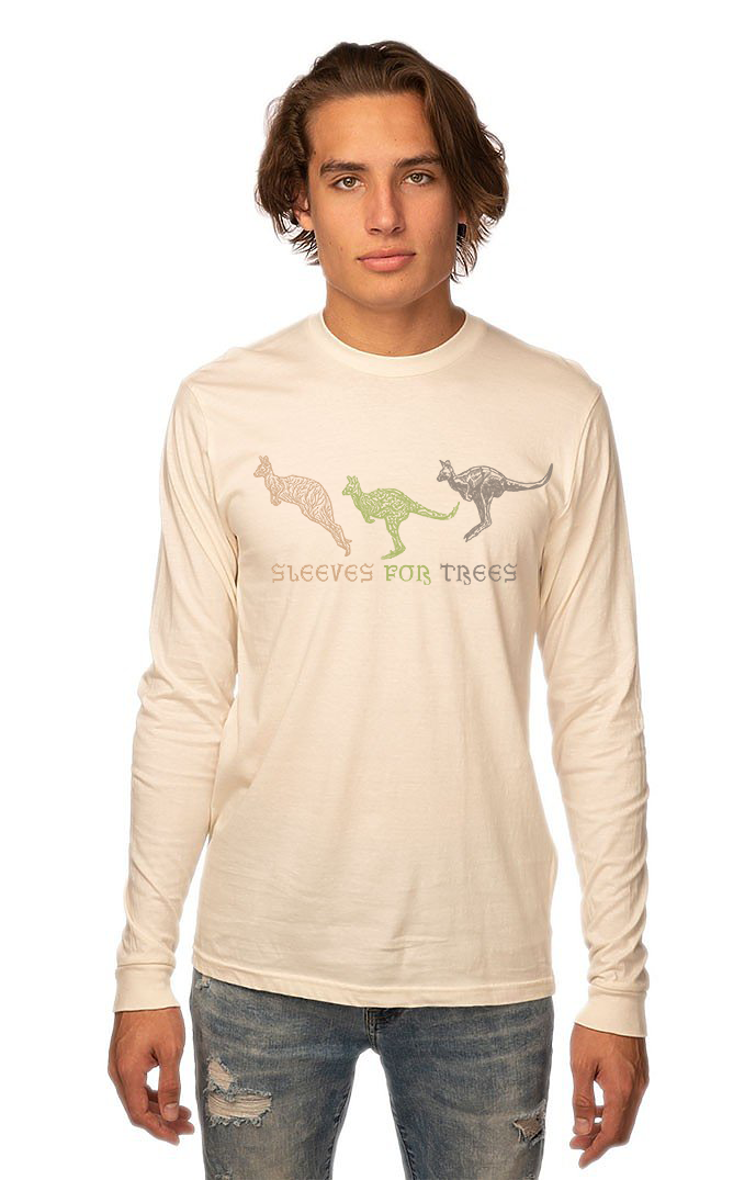 Unisex Organic Cotton Long Sleeve Tee Kangaroo