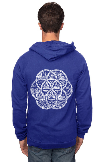 Sleeves for Trees Collection on Organic Cotton Hoodie United Earth