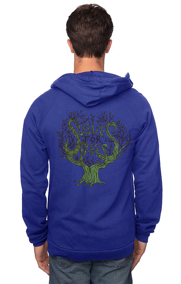 Sleeves for Trees Collection on Organic Cotton Hoodie SFT Tree