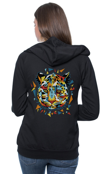 Sleeves for Trees Collection on Organic Cotton Hoodie Amur Leopard