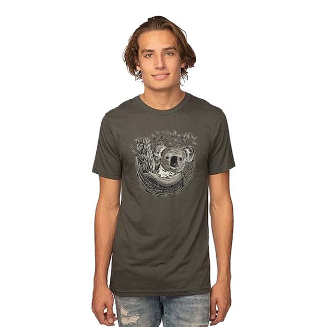 Unisex Viscose Hemp and Organic Cotton Tee Koala