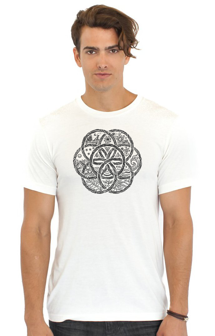 Unisex Viscose Hemp and Organic Cotton Tee United Earth