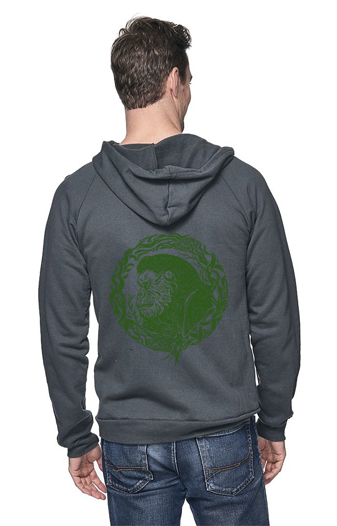 Sleeves for Trees Collection on Organic Cotton Hoodie Root Gorilla