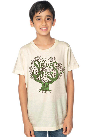Organic Cotton Youth Short Sleeve Crew Tee SFT Tree