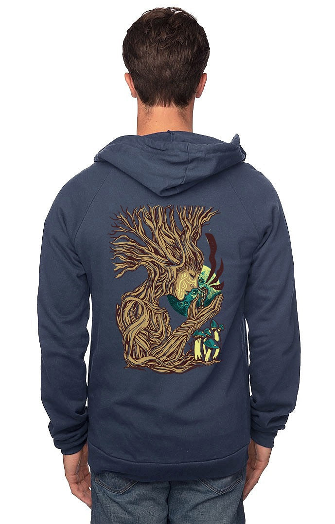 Sleeves for Trees Collection on Organic Cotton Hoodie Treelon