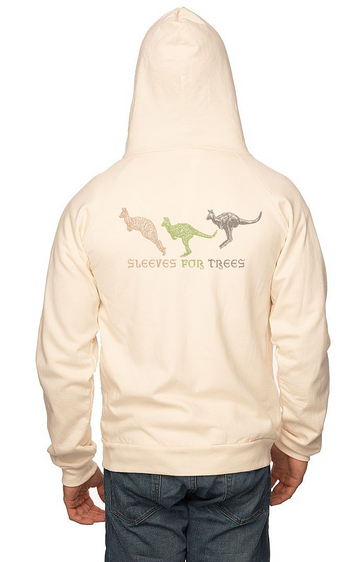 Sleeves for Trees Collection on Organic Cotton Hoodie Kangaroo