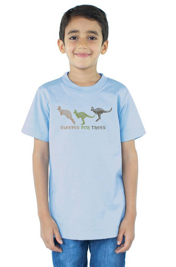 Organic Cotton Youth Short Sleeve Crew Tee Kangaroo