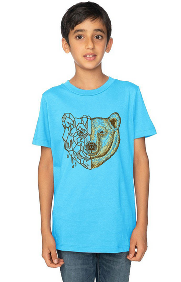 Organic Cotton Youth Short Sleeve Crew Tee Polar Bear