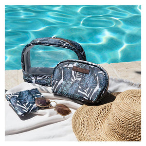 Saffiano Clear Oval Cos Bag Set of 3 Atoll