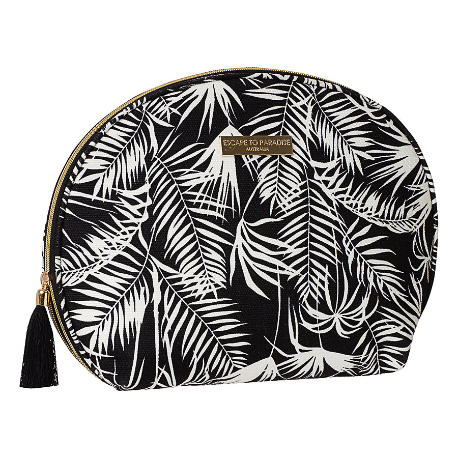 Large Curve Cosmetic Bag Polynesia Black
