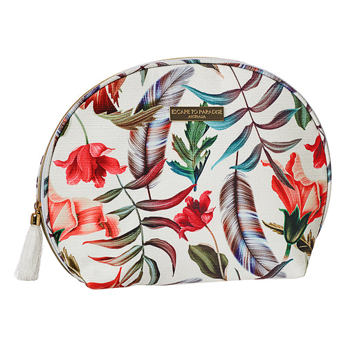 Large Curve Cosmetic Bag Plantation Island