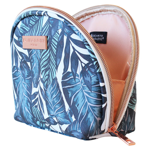 Saffiano Small Curved Cosmetic Bag Atoll