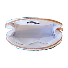 Load image into Gallery viewer, Saffiano Small Curved Cosmetic Bag Bora Bora