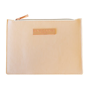 Saffiano Medium Zip Purse Peach