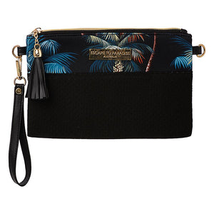 Neoprene Clutch Bag Palm Trees Black