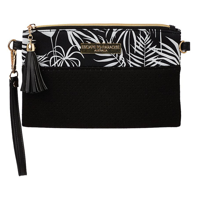 Neoprene Clutch Bag Polynesia Black