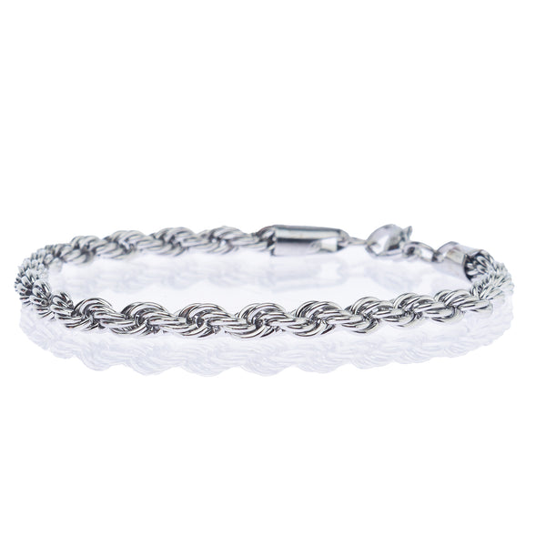 ROPE BRACELET WHITE GOLD