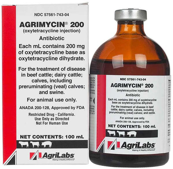 Agrimycin 200 Antibiotic (oxytetracycline injection)