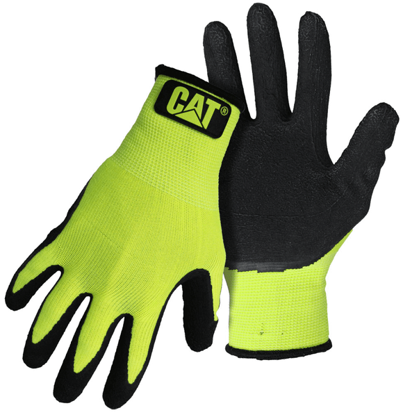 Cat Glove, Hi-Vis Green, Latex String Knit