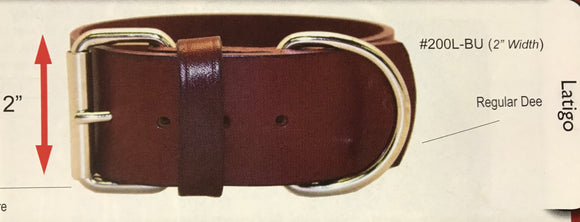 "Collar, Leather, 2"",  Heavy 1-Ply"