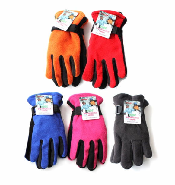 Kids Polar Fleece Glove, Assorted Colors