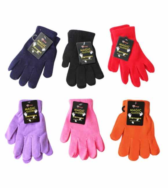 Stretch Gloves, Assorted Colors