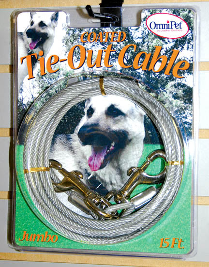 Tie Out Cable, Large or Jumbo Dog
