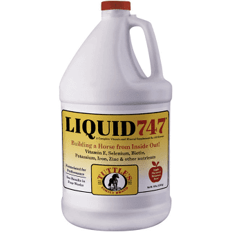 LIQUID 747 Complete Vitamin and Supplement for All Horses, 1gal