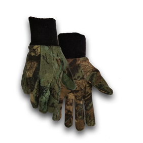 Camo Dot Jersey Gloves Large