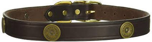 "Collar, Leather Shotgun Shell Decorated 1"" Wide"