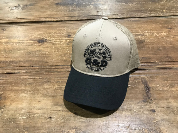 G&D Cap, Tan/Black