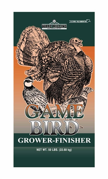Game Bird Grower/Finisher, Medicated 20%, 50lb