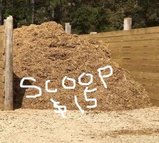 Mulch, BULK (per scoop)