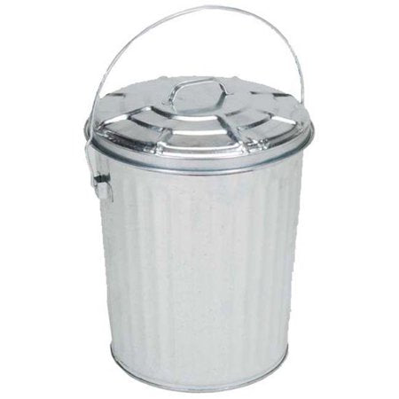 Galvanized Utility Container (Trash Can)