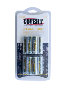 Covert - Batteries, 12 Pk AA, Rechargeable NiMH