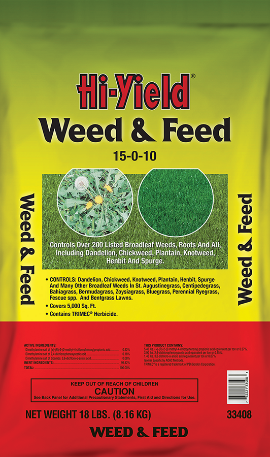 Hi-Yield Weed & Feed, 18lb