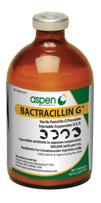 Bactracillin G Injectable (Penicillin), 100ml