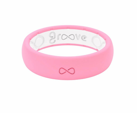 Groove Punchy Pink Silicone Ring