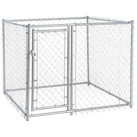 Dog Kennel, Chain Link, 10'x10'x6'