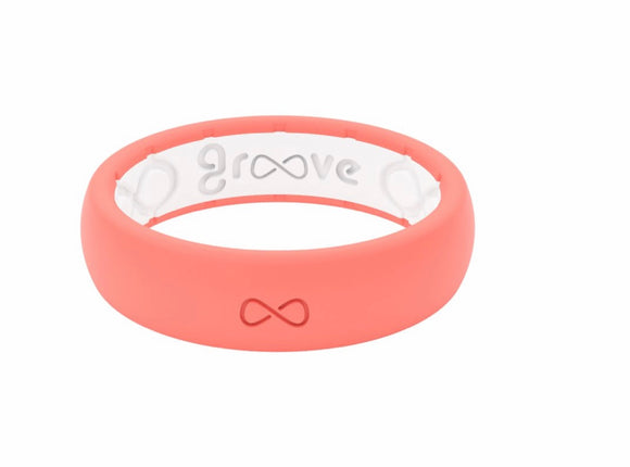 Groove Solid Coral Silicone Ring